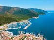 Marmaris aerial view in Turkey