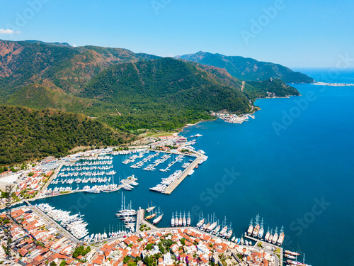 Marmaris aerial view in Turkey © saiko3p