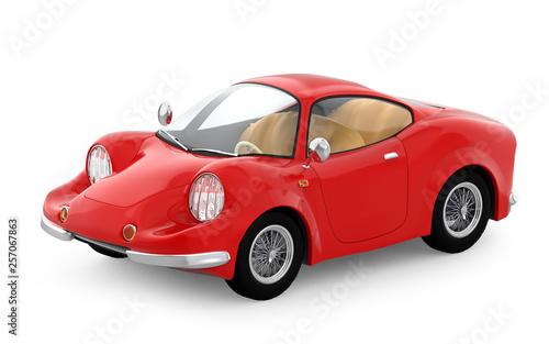 retro sport car cartoon 3d - 257067863