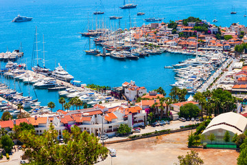 Marmaris city view in Turkey