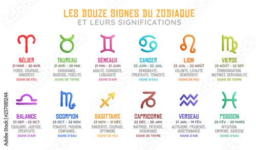 Les Douze Signes Astrologiques du Zodiaque et leurs Significations - Horoscope © JeromeCronenberger