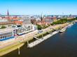 Ships at Weser river, Bremen