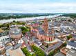 Leinwandbild Motiv Mainz cathedral aerial view, Germany