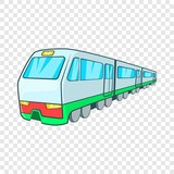 Train icon in cartoon style on a background for any web design