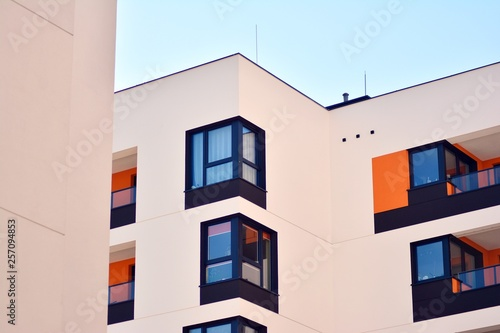 New-build residential building on a sunny summer day - 257094853