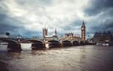 Fototapeta Fototapeta Londyn - Westminster bridge in London. Great Big Ben parliament architecture © Raimonds Kalva
