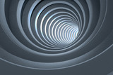 Renderowania 3D, ciemny tunel science-fiction, ciemne tło