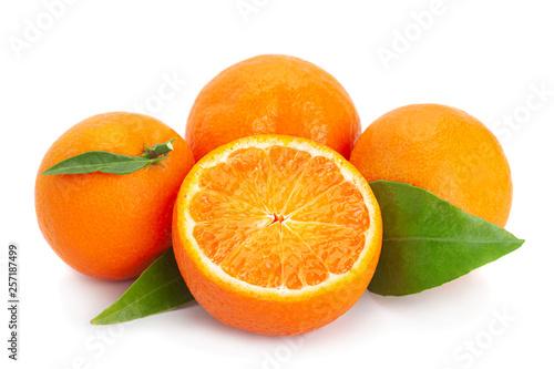 Clementine citrus fruit on white © Leonid Nyshko