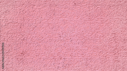Pink Cement or concrete wall background. Deep focus. Mock up or template. - 257187856