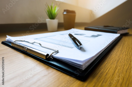 Close up object Business concept. Business workplace on the table.