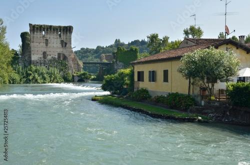 The river Mincio in Borguetto, Italy