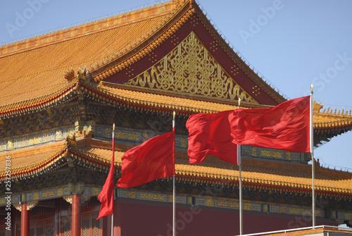 Chinese red flags © Dariusz Kopestynski