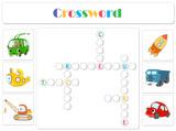 English for kids. Transport crossword