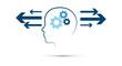 testa, ingranaggi, comunicazione, ricevente, emittente,