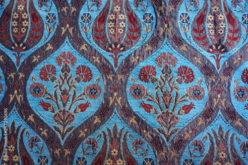 Traditional Turkish carpet. Floral pattern © troyka