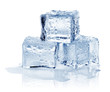 Leinwandbild Motiv ice cube, isolated on white background, clipping path, full depth of field