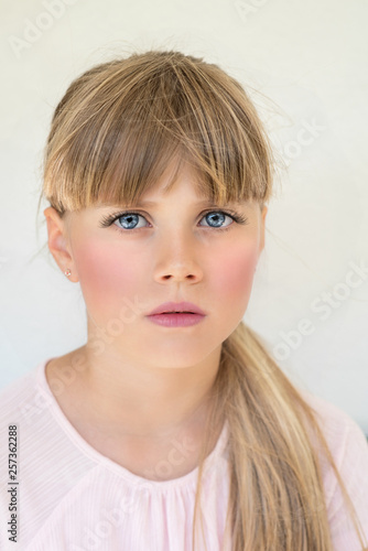 canvas print picture blondes Mädchen