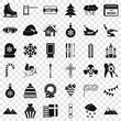 Winter holiday icons set. Simple style of 36 winter holiday vector icons for web for any design