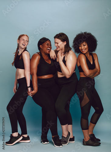 Diverse group of female in sportswear © Jacob Lund