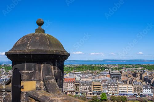 Leinwanddruck Bild Blick auf Edinburgh/Schottland