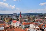Panoramic city view of Kosice, Slovakia