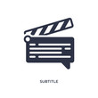 subtitle icon on white background. Simple element illustration from cinema concept.