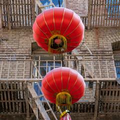 Chinatown San Francisco Kontrast Ballon Treppe