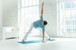 Leinwanddruck Bild - Man doing yoga