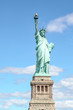 The Statue of liberty in New York ,USA .In blue sky