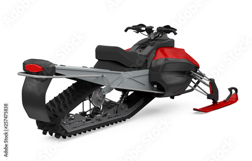 Red Snowmobile Isolated © nerthuz