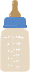 Realistic vector illustration of a baby bottle, EPS 8 no transparencies © aleutie