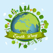 April 22, Earth Day Background Vector Illustration - 257519085
