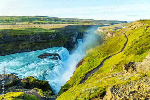 A view of Gullfoss waterfall in Iceland © Marcin Krzyzak