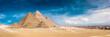 Leinwandbild Motiv Panorama of the Great Pyramids of Giza, Egypt