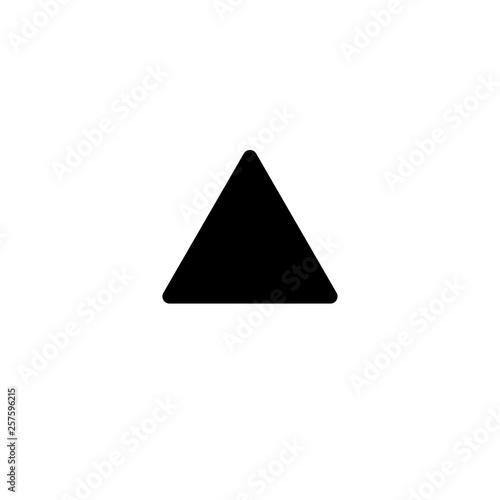 Triangle Glyph Icon Vector - 257596215