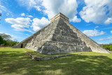El Castillo (Temple of Kukulcan), a Mesoamerican step-pyramid, Chichen Itza. It was a large pre-Columbian city built by the Maya