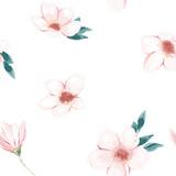 Floral seamless pattern. Spring print. Sketch background. Vector illustration - 257606267