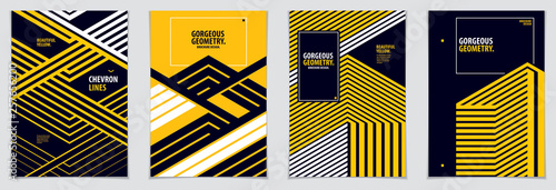 Minimal covers design. Vector set geometric patterns abstract backgrounds collection. Design templates for flyers, booklets, greeting cards, invitations and advertising. A4 print format.