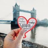heart in the Tower Bridge in London, UK