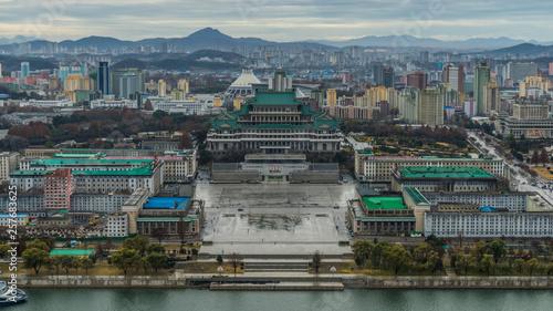 north korea Pyongyang square Kim Il-sung - 257683625