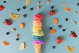 Ice cream healthy fruits
