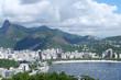 Quadro Brazil, Rio de Janeiro, Landscape View Lagoon Rodrigo de Freitas with the Christ Statue