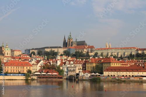 fototapeta na ścianę Panoramic view of Prague and Vltava river, Czech Republic