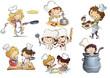 niños cocineros en cocina