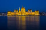 Hungarian parliament, Budapest at night