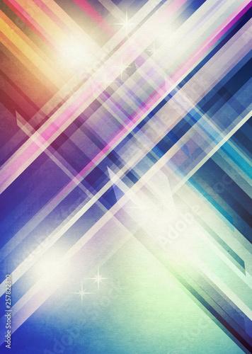 Retro poster with diagonal stripes - 257822810