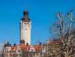 canvas print picture - Leipzig Neues Rathaus Turm im Winter