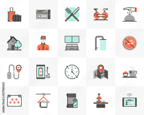 Hotel Services Futuro Next Icons Pack © bloomicon