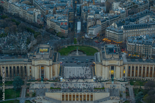 view from Eiffel tower Trocadero square © Sergei