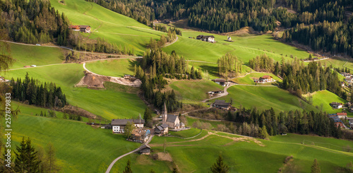 Leinwandbild Motiv Funes valley, Dolomites mountain